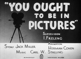 Screenshots from the 1940 Warner Brothers cartoon You Ought to Be In Pictures
