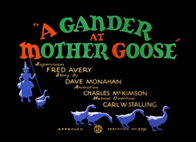 Screenshots from the 1940 Warner Bros. cartoon A Gander at Mother Goose