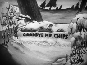 Screenshots from the 1940 Warner Brothers cartoon The Chewin