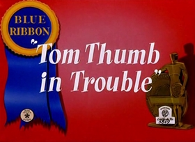 Screenshots from the 1940 Warner Bros. cartoon Tom Thumb in Trouble