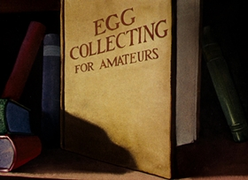 Screenshots from the 1940 Warner Bros. cartoon The Egg Collector