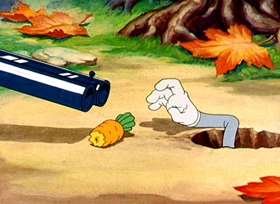 Screenshots from the 1940 Warner Brothers cartoon A Wild Hare