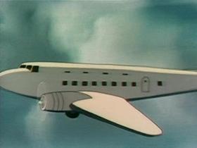 Screenshots from the 1940 Warner Brothers cartoon Ceiling Hero