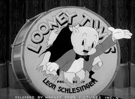 Screenshots from the 1940 Warner Brothers cartoon Patient Porky