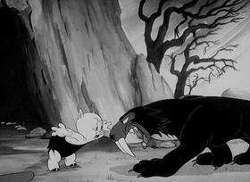 Screenshots from the 1940 Warner Brothers cartoon Prehistoric Porky