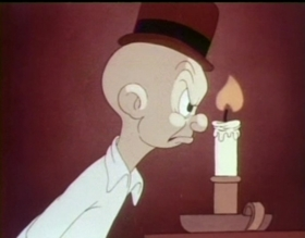 Screenshots from the 1940 Warner Bros. cartoon Good Night Elmer