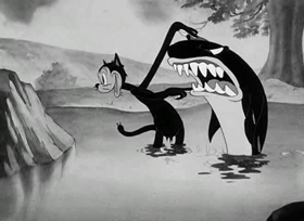 Screenshots from the 1940 Warner Brothers cartoon The Sour Puss