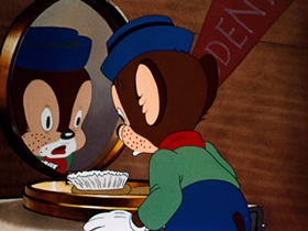 Screenshots from the 1940 Warner Brothers cartoon Bedtime for Sniffles
