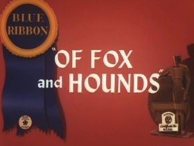 Screenshots from the 1940 Warner Brothers cartoon Of Fox and Hounds