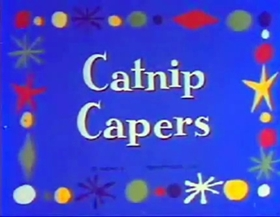 Screenshots from the 1940 Terrytoons cartoon Catnip Capers