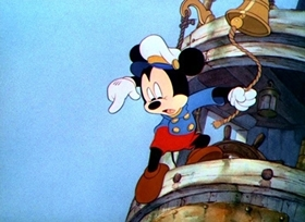 Screenshots from the 1940 Disney cartoon Tugboat Mickey