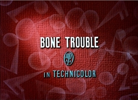 Screenshots from the 1940 Disney cartoon Bone Trouble