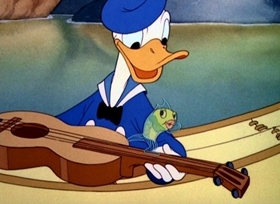 Screenshots from the 1940 Disney cartoon Donald