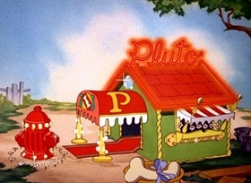 Screenshots from the 1940 Disney cartoon Pluto