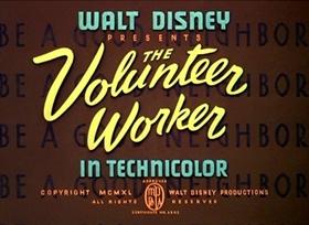 Screenshots from the 1940 Disney cartoon The Volunteer Worker