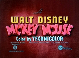 Screenshots from the 1940 Disney cartoon Mr. Mouse Takes a Trip