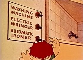 Screenshots from the 1940 Fleischer Studio cartoon Little Lambkin