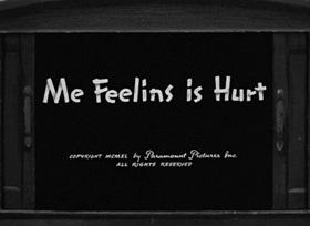 Screenshots from the 1940 Fleischer Studio cartoon Me Feelins is Hurt
