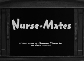 Screenshots from the 1940 Fleischer Studio cartoon Nurse Mates