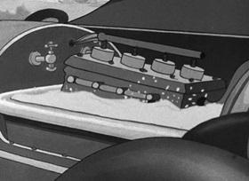 Screenshots from the 1940 Fleischer Studio cartoon Wimin Hadn