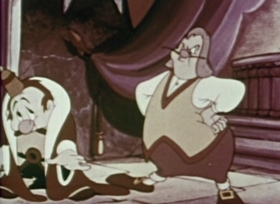 Screenshots from the 1940 Fleischer Studio cartoon King For a Day