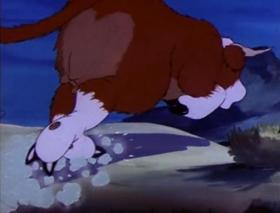 Screenshots from the 1940 MGM cartoon Home on the Range