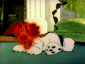 Screenshots from the 1940 MGM cartoon The Homeless Flea