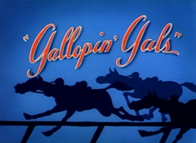 Screenshots from the 1940 MGM cartoon Gallopin