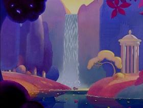 Screenshots from the 1940 Disney cartoon The Pastoral Symphony