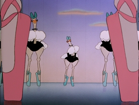 Screenshots from the 1940 Disney cartoon Dance of the Hours