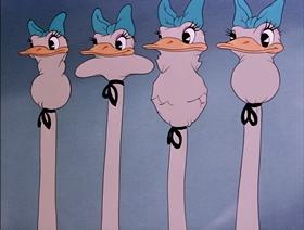 Screenshots from the 1940 Disney cartoon Dance of the Hours