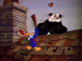 Screenshots from the 1940 Walter Lantz cartoon Knock Knock