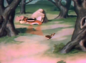 Screenshots from the 1941 Warner Brothers cartoon The Crackpot Quail