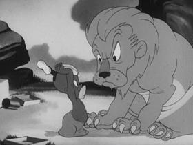 Screenshots from the 1941 Warner Brothers cartoon Porky