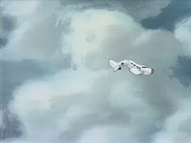 Screenshots from the 1941 Warner Brothers cartoon Aviation Vacation