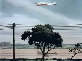 Screenshots from the 1941 Warner Brothers cartoon Aviation Vacation