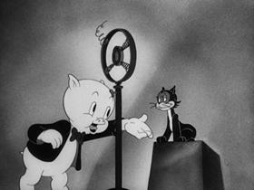 Screenshots from the 1941 Warner Brothers cartoon We, The Animals Squeak