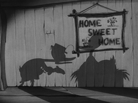 Screenshots from the 1941 Warner Brothers cartoon The Henpecked Duck