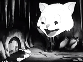 Screenshots from the 1941 Terrytoons cartoon A Dogs Dream