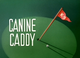 Screenshots from the 1941 Disney cartoon Canine Caddy