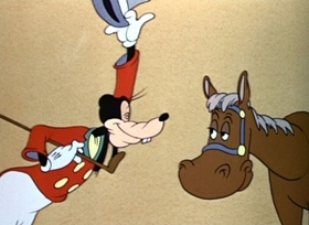 Screenshots from the 1941 Disney cartoon How to Ride a Horse