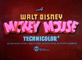 Screenshots from the 1941 Disney cartoon The Nifty Nineties