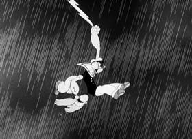 Screenshots from the 1941 Fleischer Studio cartoon Problem Pappy