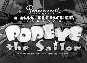 Screenshots from the 1941 Fleischer Studio cartoon Olive