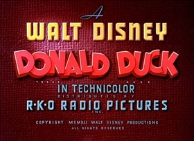 Screenshots from the 1941 Disney cartoon Old MacDonald Duck