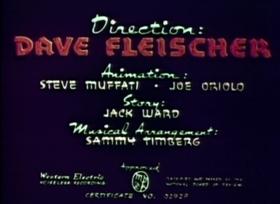 Screenshots from the 1941 Fleischer Studio cartoon Fire Cheese