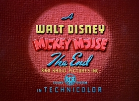 Screenshots from the 1941 Disney cartoon Lend a Paw