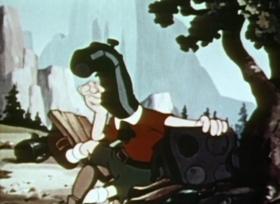 Screenshots from the 1941 Fleischer Studio cartoon It
