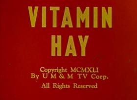 Screenshots from the 1941 Fleischer Studio cartoon Vitamin Hay