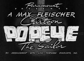Screenshots from the 1941 Fleischer Studio cartoon I